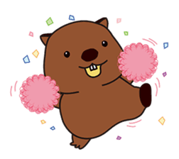 This is cute Wombat's Line Stamps! sticker #267481