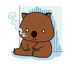 This is cute Wombat's Line Stamps! sticker #267487