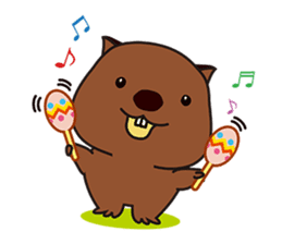 This is cute Wombat's Line Stamps! sticker #267488