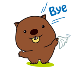 This is cute Wombat's Line Stamps! sticker #267489