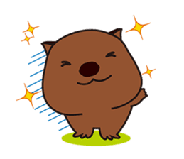 This is cute Wombat's Line Stamps! sticker #267490