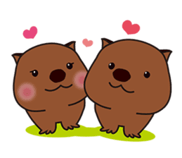 This is cute Wombat's Line Stamps! sticker #267491