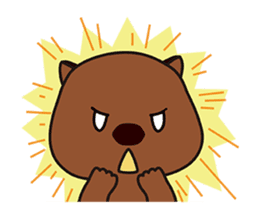 This is cute Wombat's Line Stamps! sticker #267492