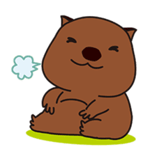 This is cute Wombat's Line Stamps! sticker #267496