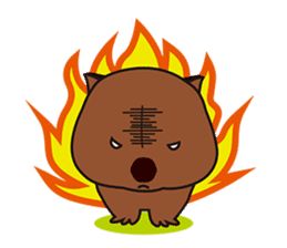 This is cute Wombat's Line Stamps! sticker #267497