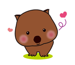 This is cute Wombat's Line Stamps! sticker #267498