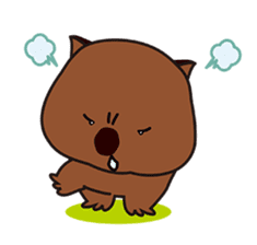 This is cute Wombat's Line Stamps! sticker #267500