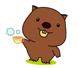 This is cute Wombat's Line Stamps! sticker #267503