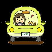 สติ๊กเกอร์ไลน์ Yurufuwamochiko