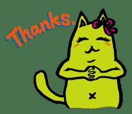 Creepy Cat MUNEZO (English ver.) sticker #268912
