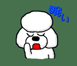 Teku the Poodle sticker #269109
