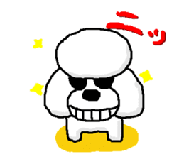Teku the Poodle sticker #269117