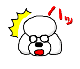 Teku the Poodle sticker #269121