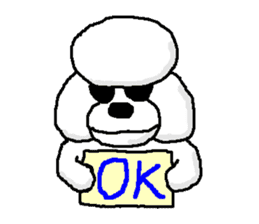 Teku the Poodle sticker #269127