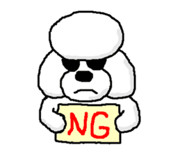 Teku the Poodle sticker #269128