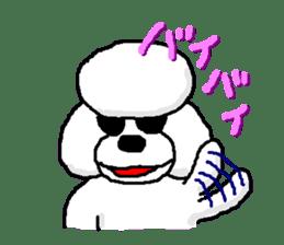 Teku the Poodle sticker #269135