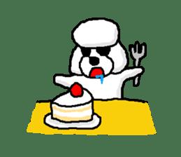 Teku the Poodle sticker #269140
