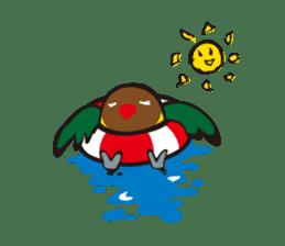Masked lovebird & Toco Toucan sticker #269906