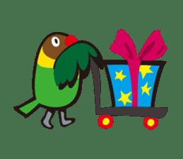 Masked lovebird & Toco Toucan sticker #269908