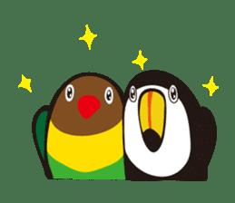 Masked lovebird & Toco Toucan sticker #269912