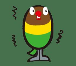 Masked lovebird & Toco Toucan sticker #269919