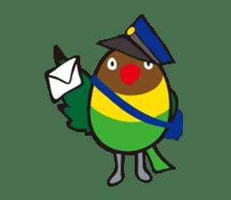Masked lovebird & Toco Toucan sticker #269923
