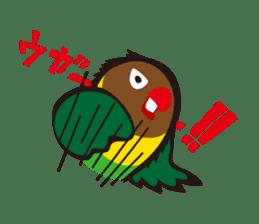Masked lovebird & Toco Toucan sticker #269924