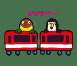 Masked lovebird & Toco Toucan sticker #269925