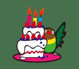 Masked lovebird & Toco Toucan sticker #269933