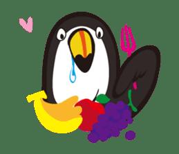 Masked lovebird & Toco Toucan sticker #269937