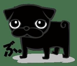 Black Pug DOM sticker #271105