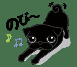 Black Pug DOM sticker #271108