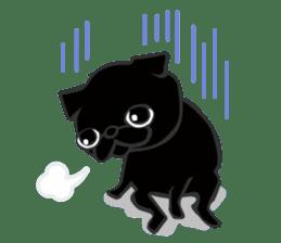 Black Pug DOM sticker #271109