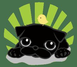 Black Pug DOM sticker #271112
