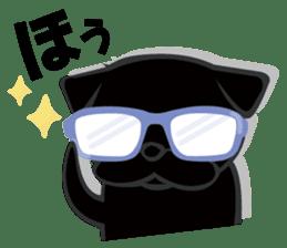 Black Pug DOM sticker #271113