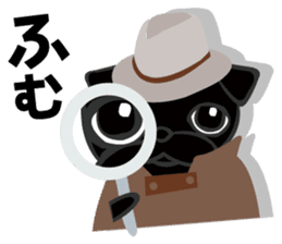 Black Pug DOM sticker #271114