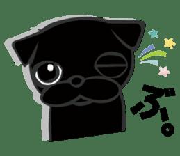 Black Pug DOM sticker #271115