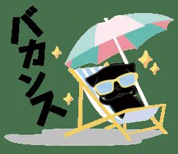 Black Pug DOM sticker #271119
