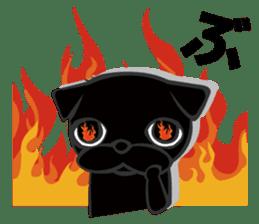 Black Pug DOM sticker #271127