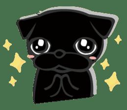 Black Pug DOM sticker #271128
