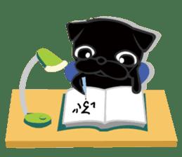 Black Pug DOM sticker #271129