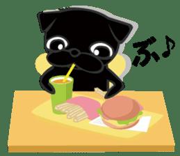 Black Pug DOM sticker #271132