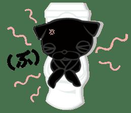 Black Pug DOM sticker #271134