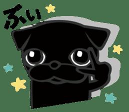 Black Pug DOM sticker #271138