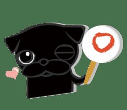 Black Pug DOM sticker #271139