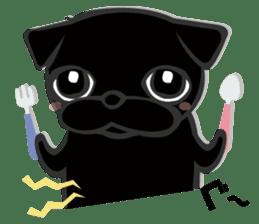 Black Pug DOM sticker #271143