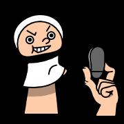 สติ๊กเกอร์ไลน์ Funny hand puppet