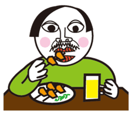 Beard Uncle Pleasant daily life sticker #274359