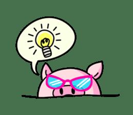lovely pig sticker #274946