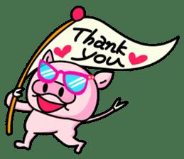 lovely pig sticker #274947